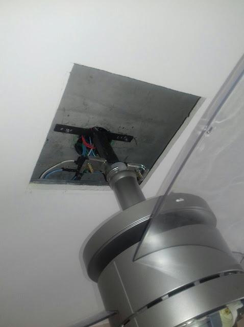 Haste Para Instalar Ventilador de Teto Arno Ultimate em Teto de Gesso