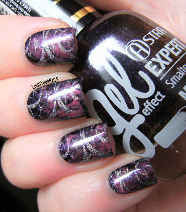 Galaxy nails stamped