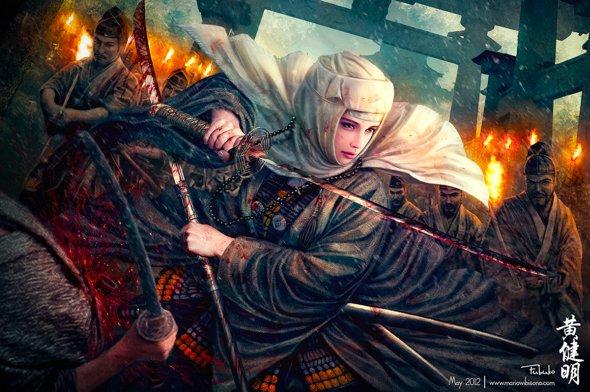 Mario Wibisono deviantart ilustrações fantasia games oriental traços realistas história