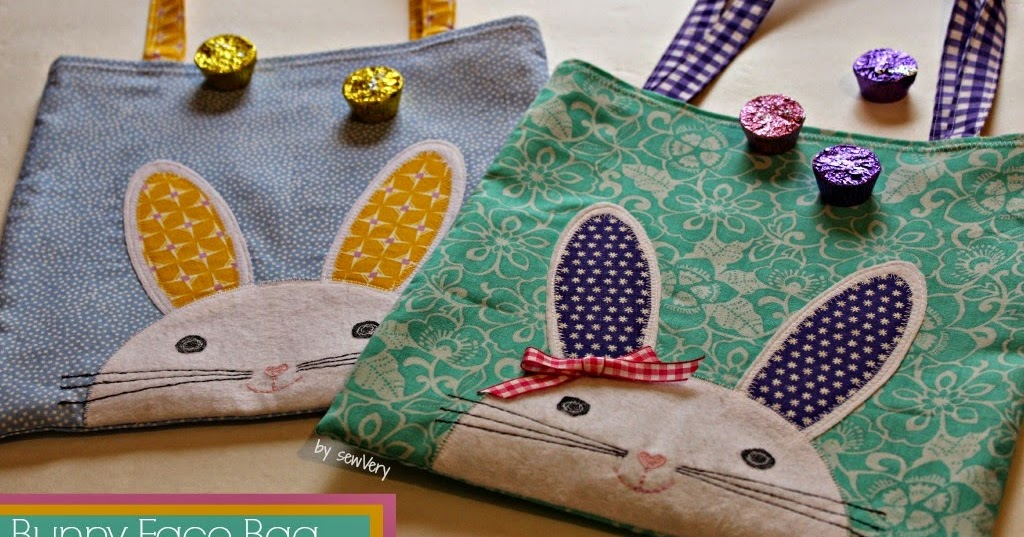 Cute Bunny Face Tote Bag