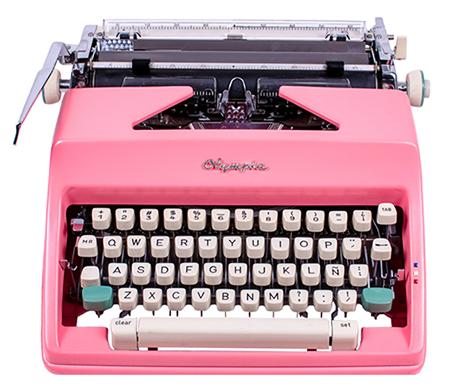 Vintage Pink Olympia Typewriter from El Granero