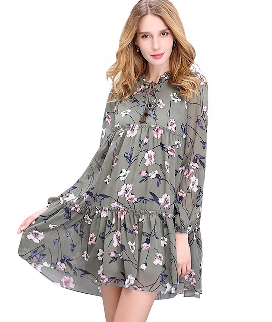 robe manches longues, tendance mode femmes hiver 2017 2018