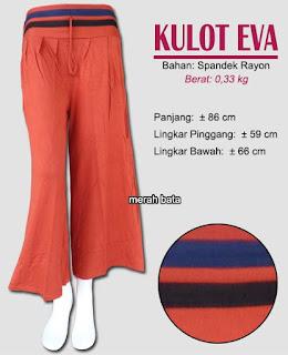 Celana kulot spandek rayon polos - Eva