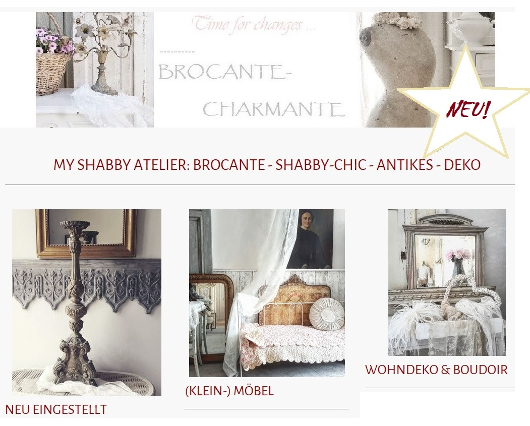 brocante charmante now open. Black Bedroom Furniture Sets. Home Design Ideas