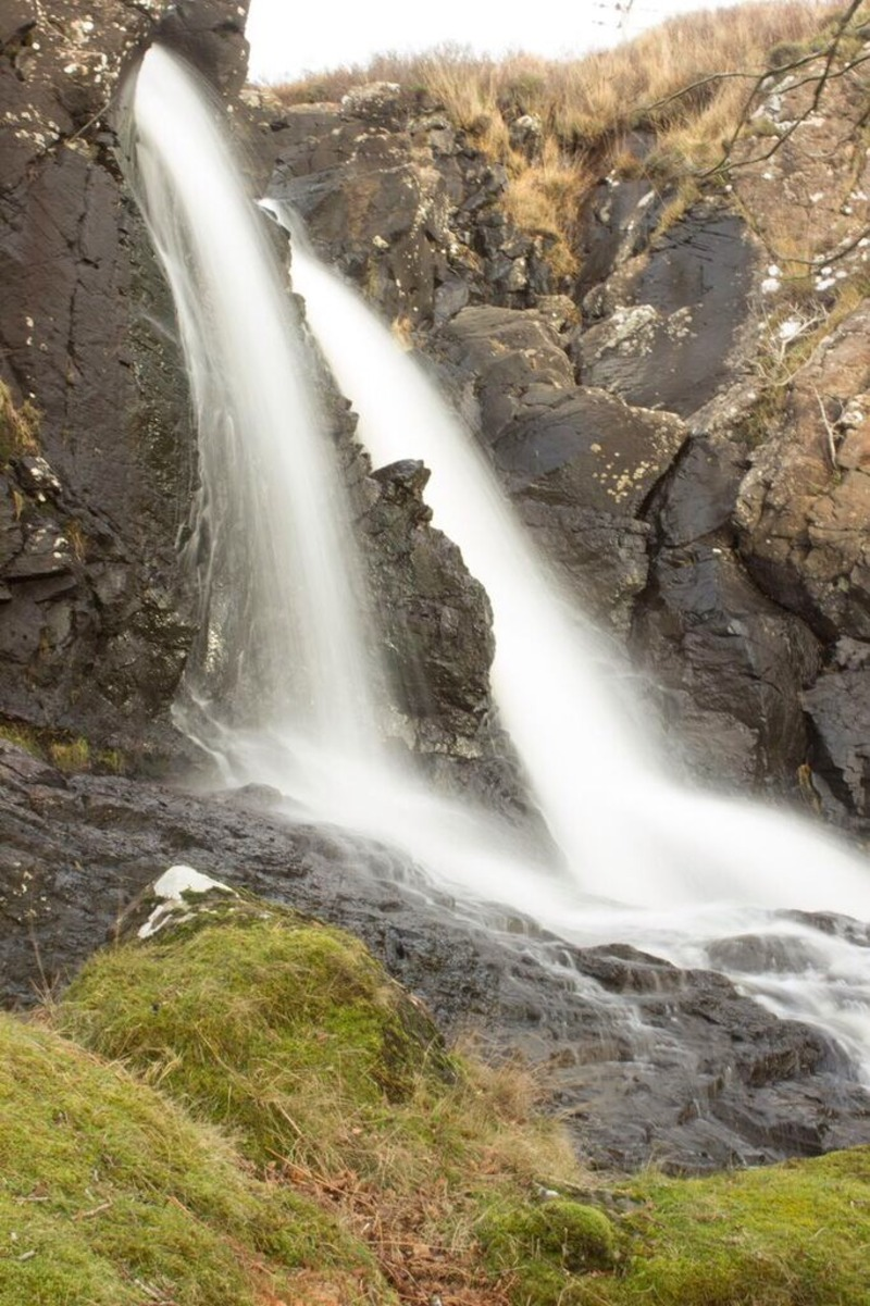 eas fors waterfall scotland isle of mull