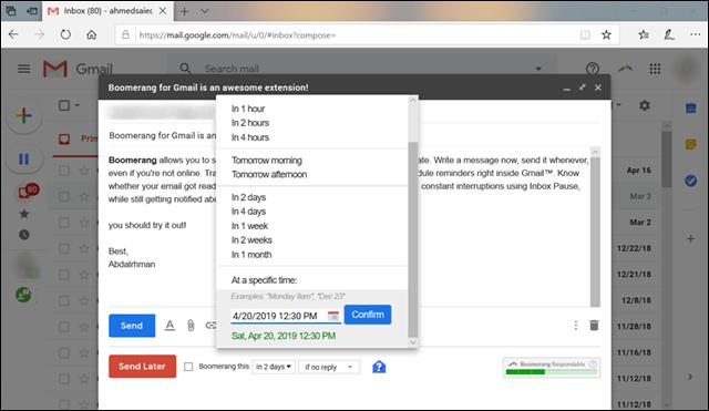 جدولة رسائل Gmail لإرسالها في وقت محدد على الكمبيوتر أو الهاتف 6