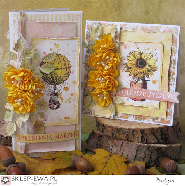 Złota jesień- kartki na różne okazje