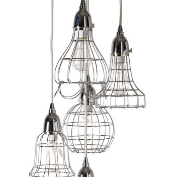 Silver Wire Pendant Lights