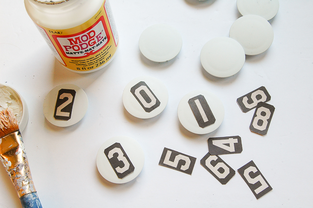 Gluing numbers to Dollar Tree magnets