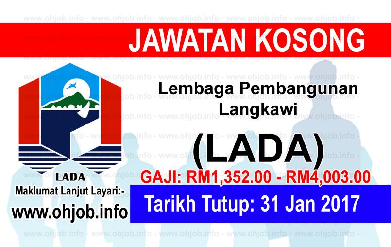 Jawatan Kerja Kosong Lembaga Pembangunan Langkawi (LADA) logo www.ohjob.info januari 2017