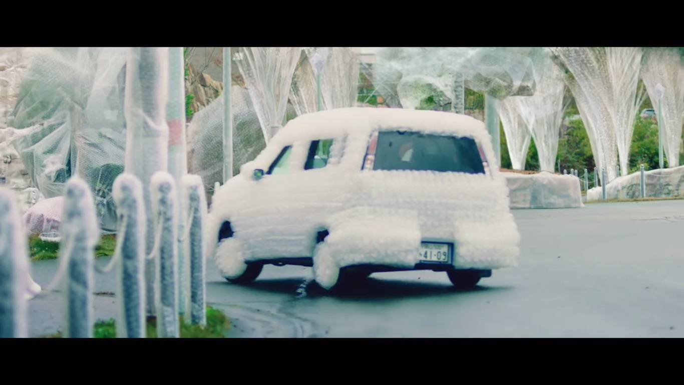 Cover Your Town In Bubble Wrap Says Okayama Traffic Safety Psa K Image Source Toyopet