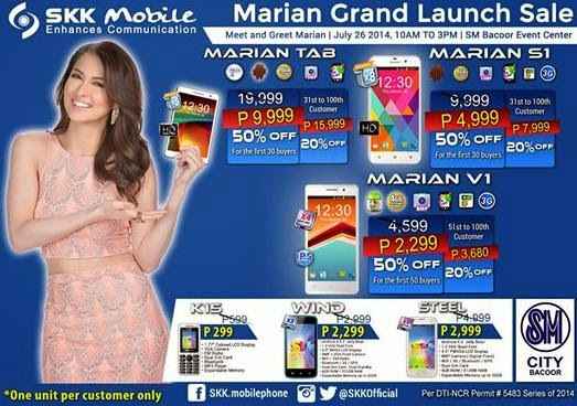 Get SKK Mobile Marian Devices at 50% Off This Coming July 26