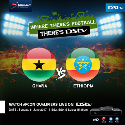 Journey To Cameroon 2019 Starts Now Live On SuperSport : Ghana vs. Ethiopia
