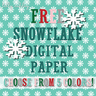free download snowflake digital paper