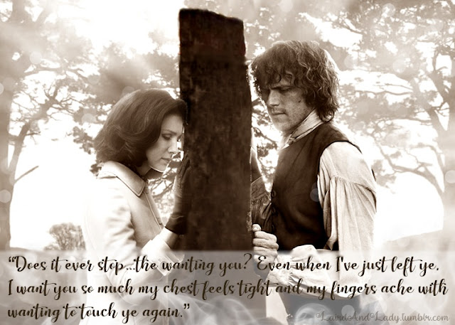 Claire and Jamie Outlander Art Craigh na Dun