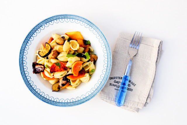 Eat the Rainbow Roast Vegetable Pasta