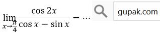 limit cos2x