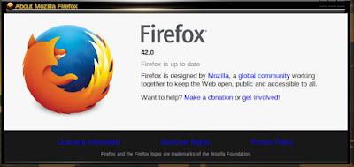 Mozilla Firefox veri 42 on Ubuntu Lucid 10.04