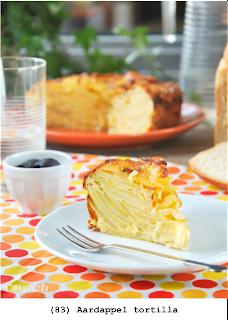 Aardappel, ui en eieren, grote porties voor 4 personen, of kleinere porties por 8 personen