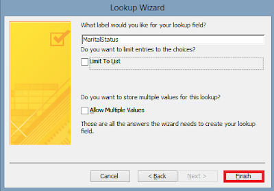 Lookup wizard