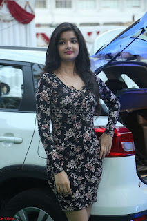 Kritika Telugu cinema Model in Short Flower Print Dress 063.JPG