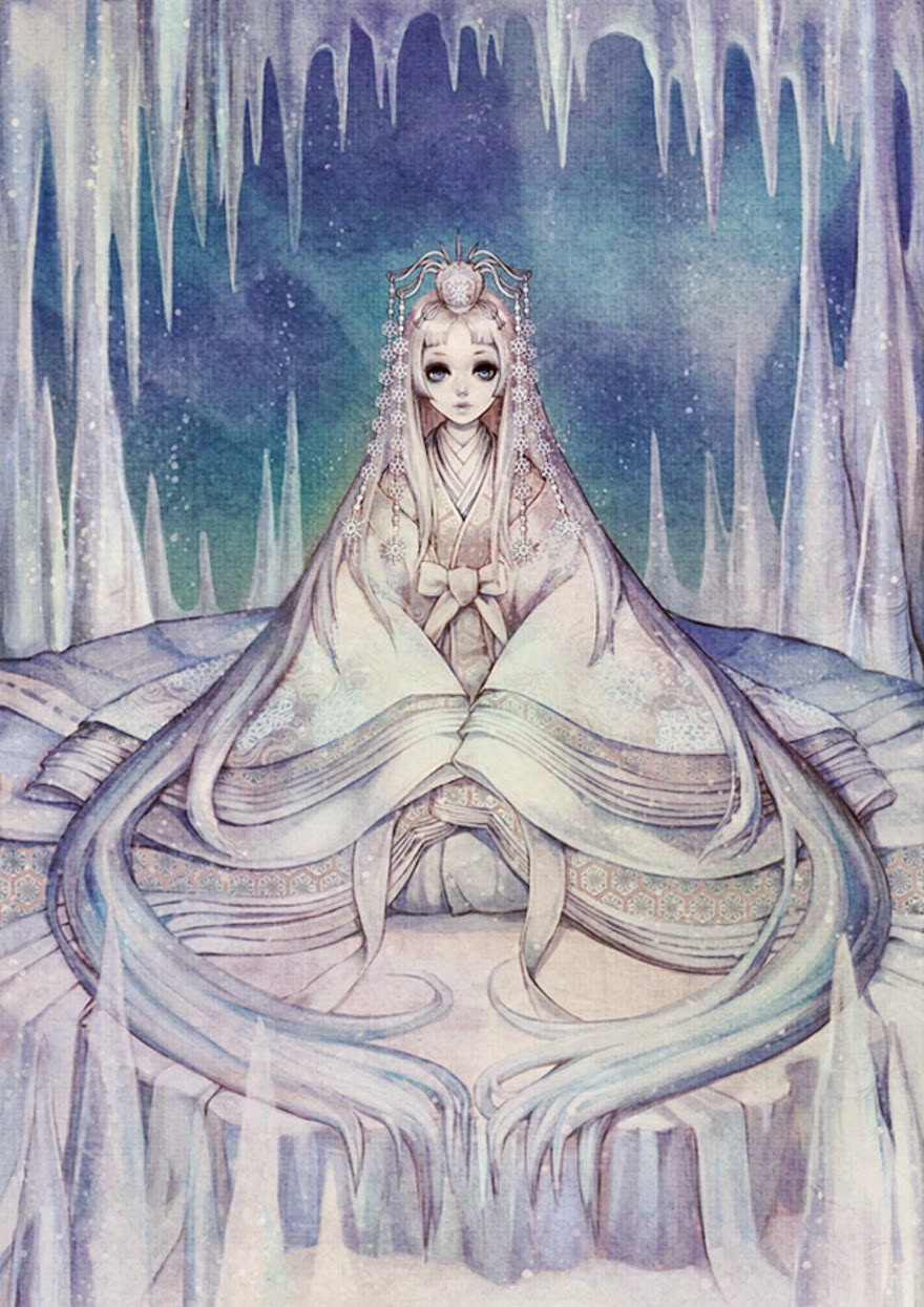 Famous Western Fairytales Get An Eastern Makeover By Korean Artist - The Snow Queen
