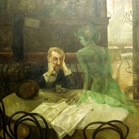'El bevedor d'absenta (Viktor Oliva)'