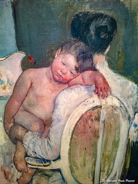 Mujer sentada con un niño en brazos, Mary Cassatt - Museo Bilbao por EGVP