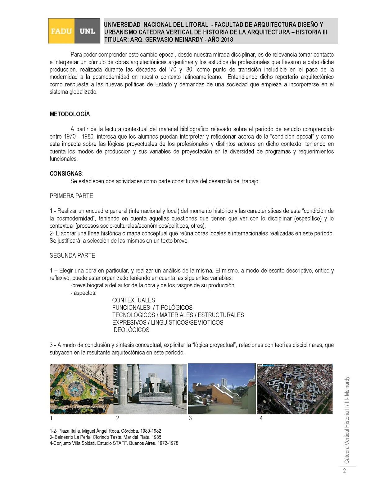 Historia II / III - Tarde - FADU | UNL: HISTORIA III - TP N° 3