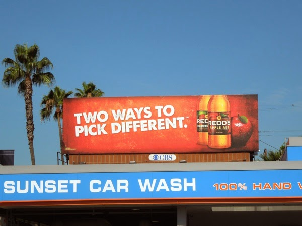 Two ways to pick different Redd's Apple Ale billboard