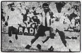 Málaga VS Argentina en 1967.