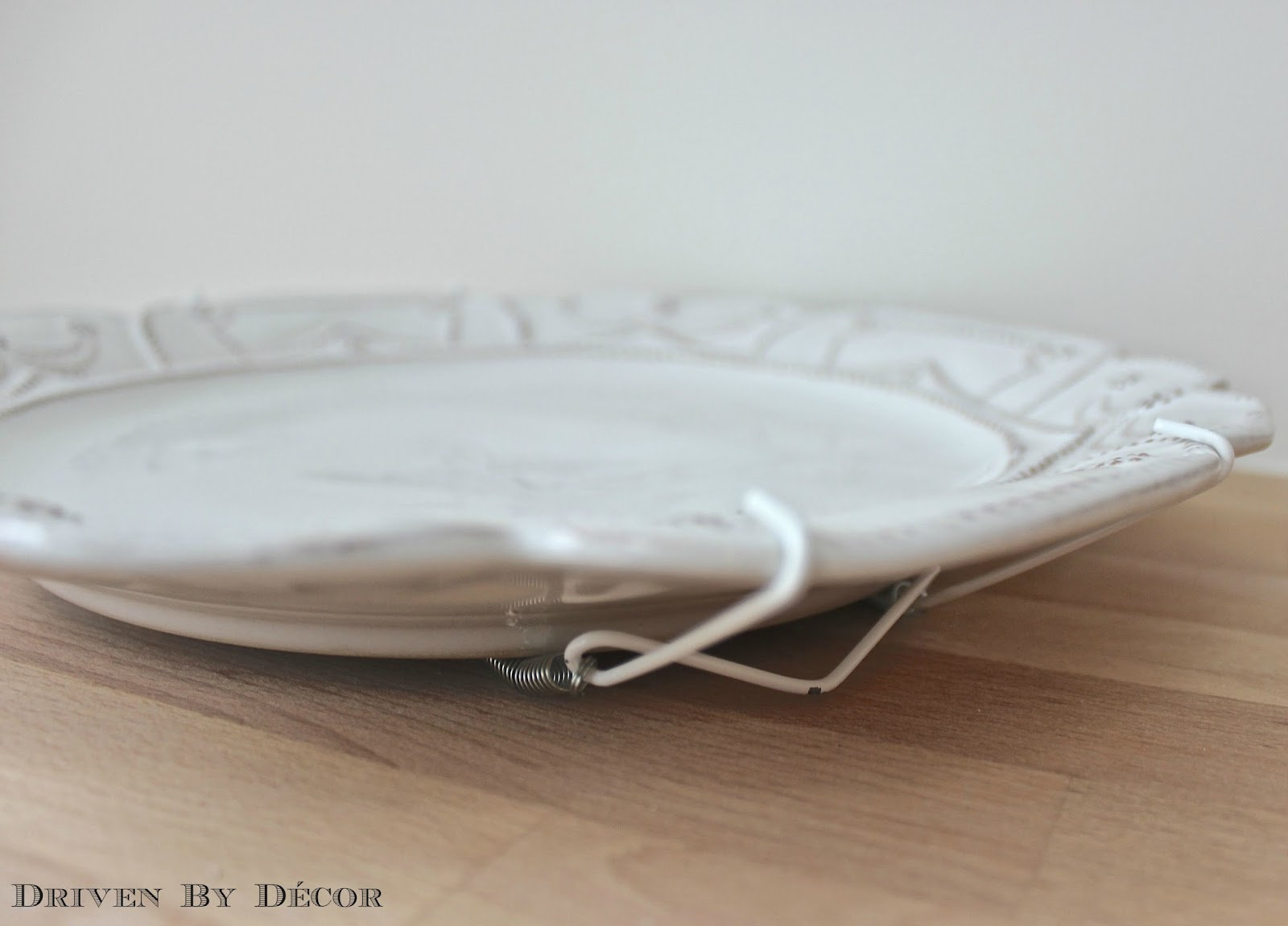 Once all of your plates have hangers it\u0027s time to get them up on the wall! I used OOK picture hooks \u2013 hook your OOK hook onto the wire hanger that is ... & How To Hang Plates on the Wall (The Best Hangers \u0026 More!) | Driven ...