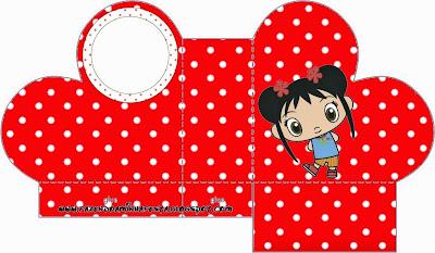 Caja abierta en forma de corazón de Ni Hao Kai Lan.