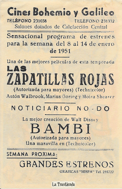 Programa de Cine - Bambi - Walt Disney (1942)