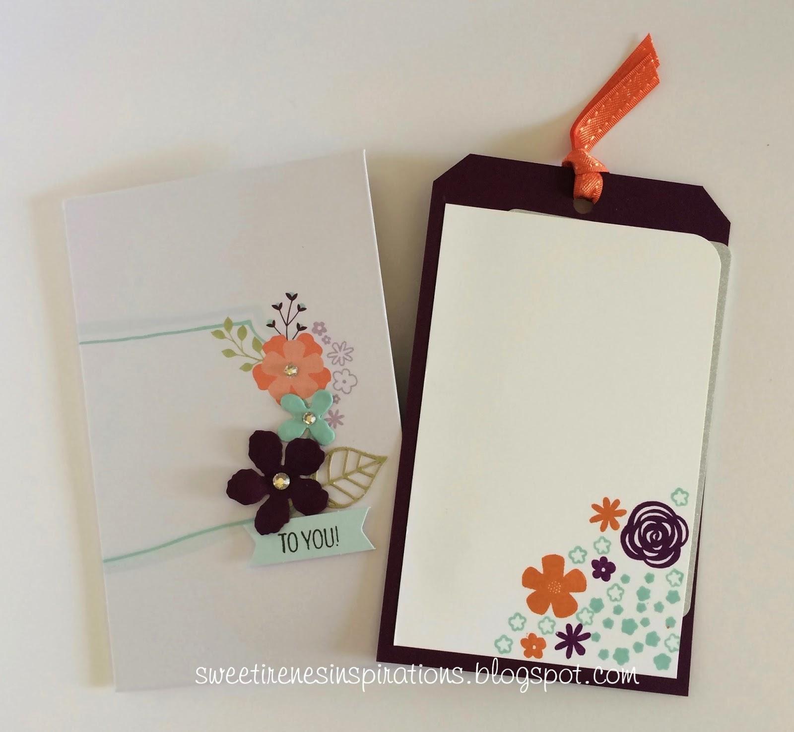 Sweet Irene S Inspirations Hello Sunshine Paper Pumpkin Gift Tag And Envelope Holder
