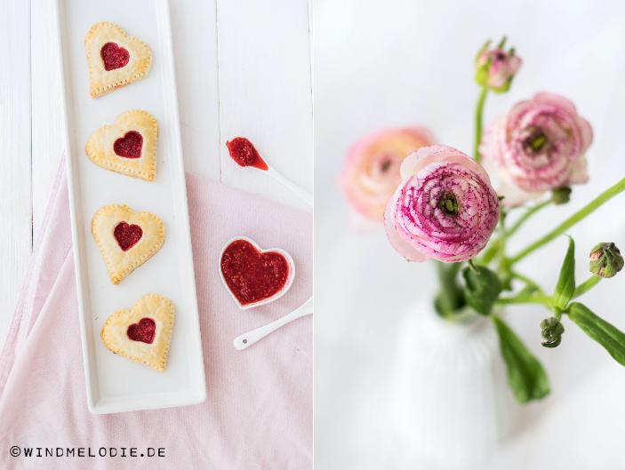 Valentinstag Rezept Mini Herz Pies Himbeeren