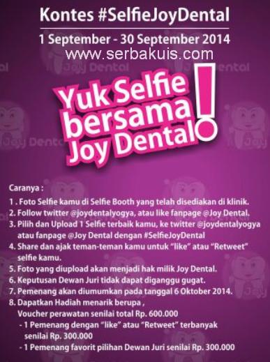 Kontes Selfie Joy Dental Yogya Berhadiah Voucher 600K