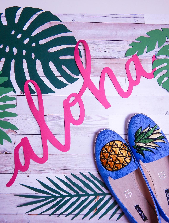 2 renee jasnoniebieskie mokasyny pineapple ananas buty obuwie renee obuwie damskie półbuty buty na wakacje wygodne z aplikacjami wyszywane vices recenzja partybox dodatki na imprezy aloha party dodatki