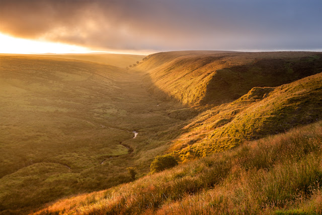 Exe Valley in the Exmoor National Park at sunrise by Martyn Ferry Photography