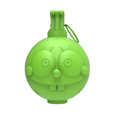 """Spongrenade Lime Edition 4"""" Resin Figure by Nathan Cleary"""
