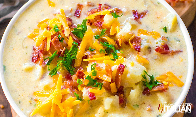 http://www.theslowroasteditalian.com/2017/10/slow-cooker-potato-soup-recipe.html