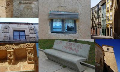 Collage de distintos rincones de ciudades y pueblos castellanos