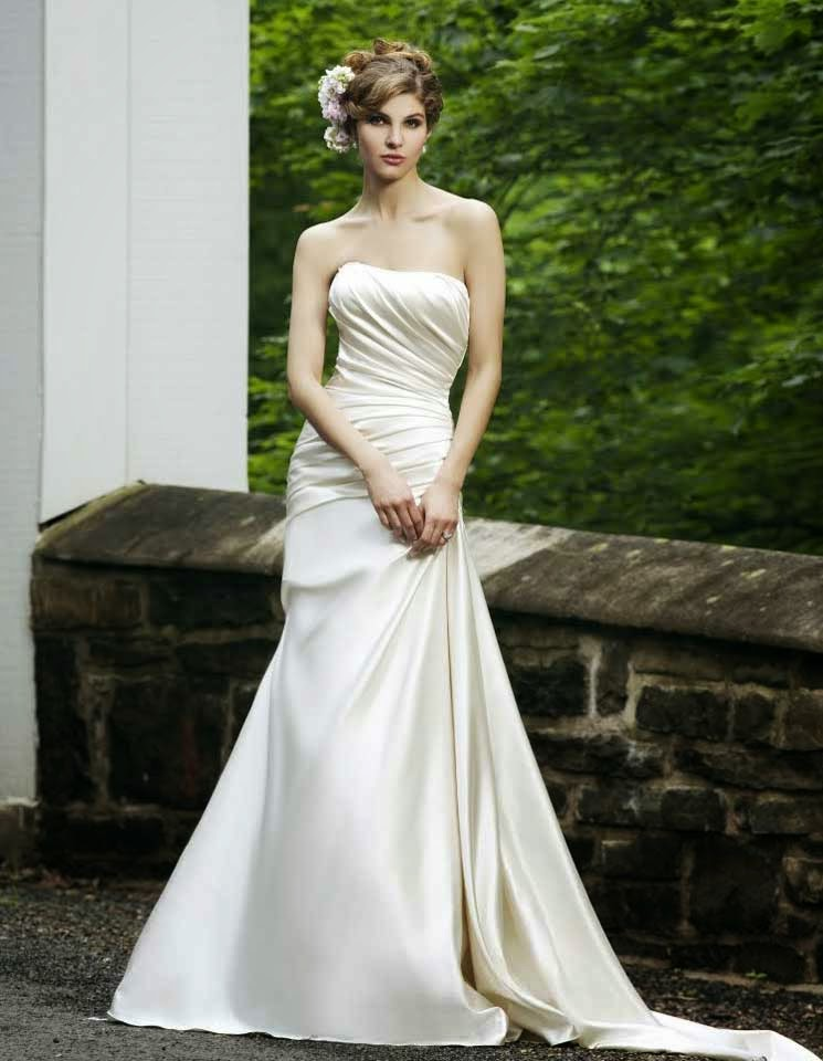 Country Western Wedding Dresses Satin Ruched Model