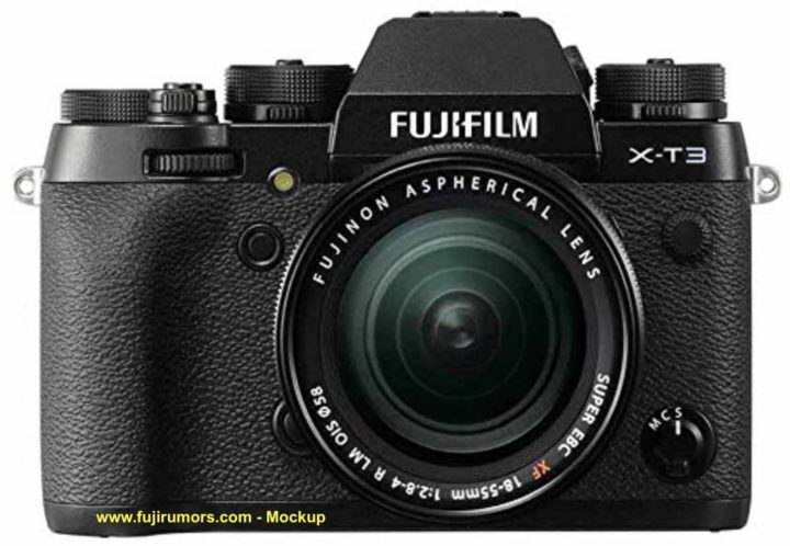 Возможный внешний вид Fujifilm X-T3