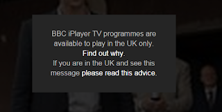 BBC iPlayer TV programmes are available to play in the UK only