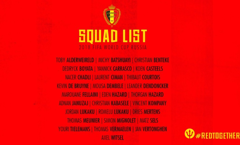 91e8b4fab Belgium 23 Men Squad Confirmed: Roberto Martinez has announced the 23 man  squad for Belgium with couple of surprises in final 23 man list.
