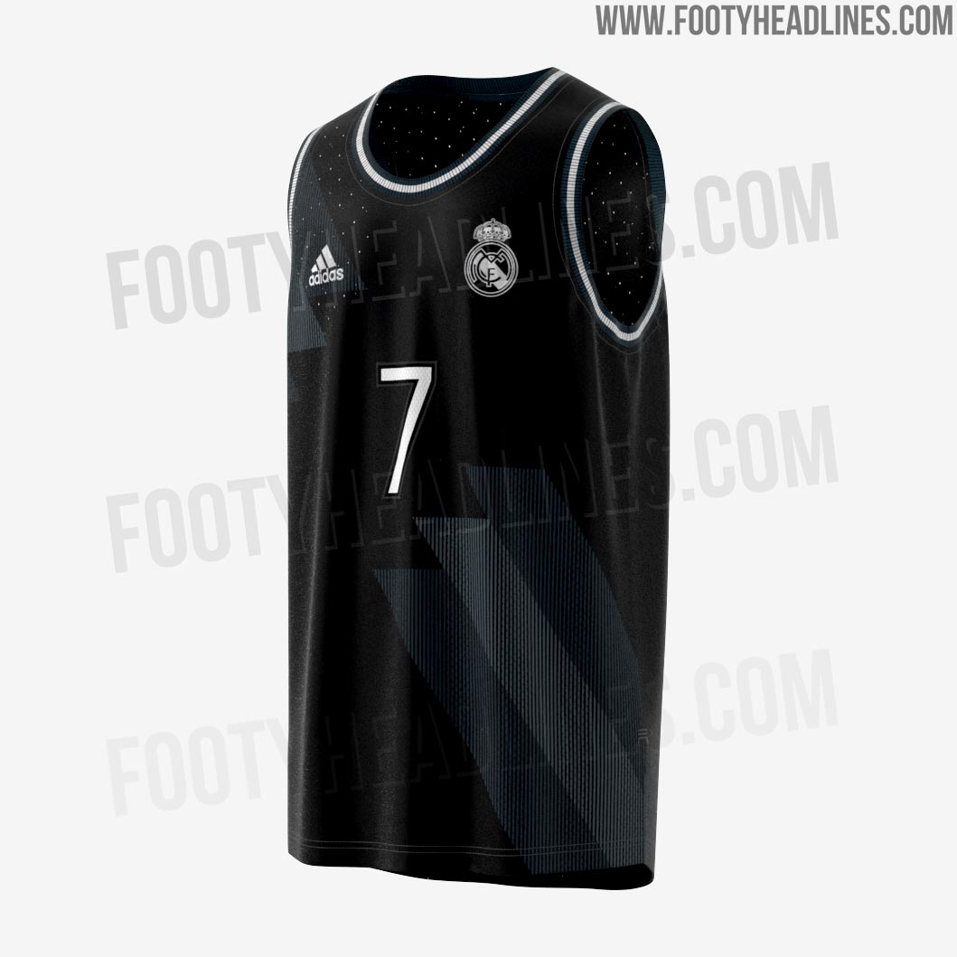 Believed to share its base design with the dark blue   black Real Madrid  2018-2019 away shirt 7f2ba9eb5