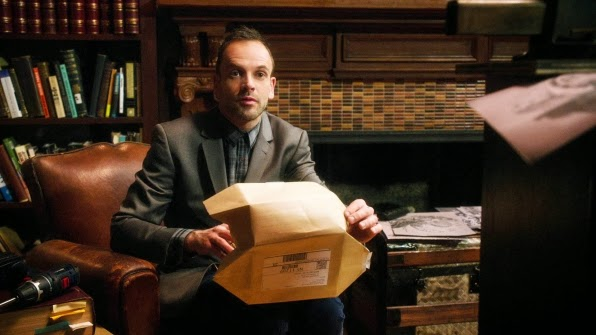 Jonny Lee Miller as Sherlock Holmes in CBS Elementary Season 2 Episode 14 Dead Clade Walking