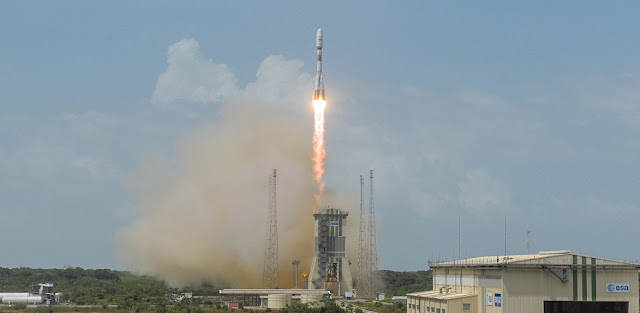 soyuz st b launcher lofts o3b quartet to orbit