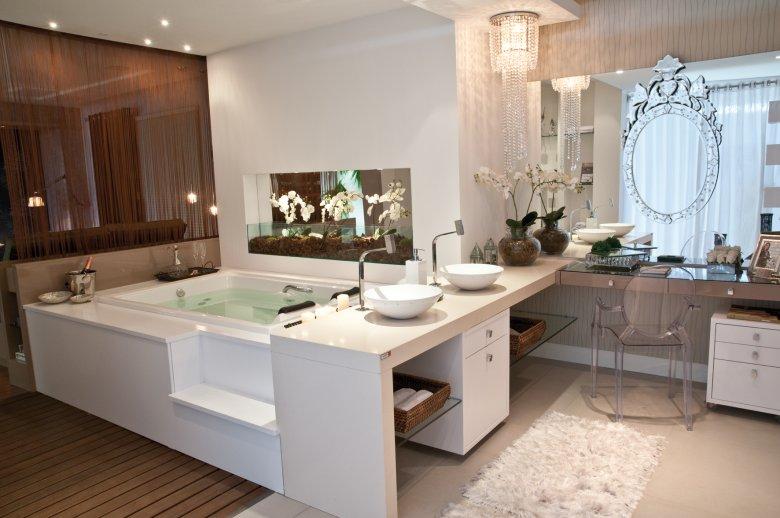 Banheiros Decorados Com Duas Cubas : Construindo minha casa clean banheiros sofisticados com